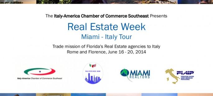 Real Estate Week Miami – Italy Tour