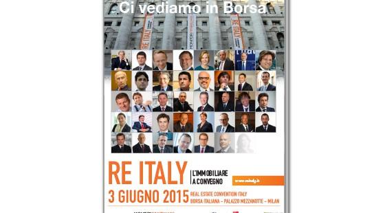 Re Italy 3 giugno: Convegno RICS con Ing, Unicredit, Deutsche Asset, Fabrica Immobiliare, Idea Fimit
